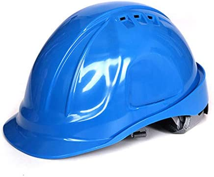 MEI XU 建設安全ヘルメット - 建設現場担当者保護キャップABS換気構造ヘルメット安全労働保険ハードヘルメット // (色 : 青)