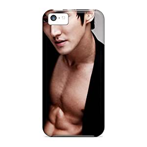 Iphone 5c Case Cover - Slim Fit Tpu Protector Shock Absorbent Case (siwon Super Junior)