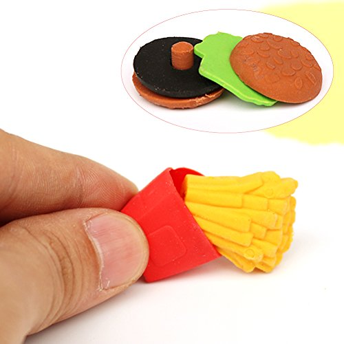 LoveInUSA Junk Food Theme Erasers Simulated Fast Food Rubber Set of 5,Cola Random Color by LoveInUSA (Image #4)