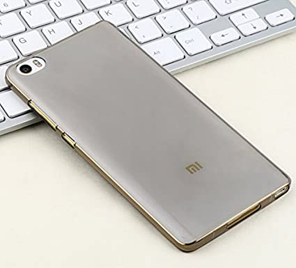 Prevoa ® 丨Xiaomi Mi5 Funda - Transparent Silicona TPU Protictive Carcasa Funda Case para Xiaomi Mi5 - Novedad 5,15 Pulgadas Smartphone - Negro