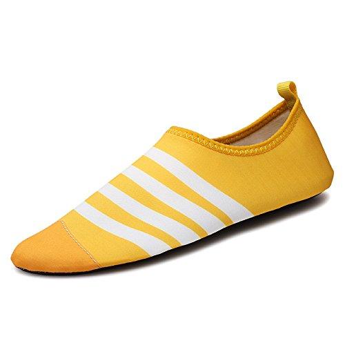 zapatos libre Natación descalzo de la aire calzado SK5 los al playa de antideslizante en piel cuidado zapatos la correr blanco y deportivos el buceo Lucdespo amarillo cintas en HqdzHW