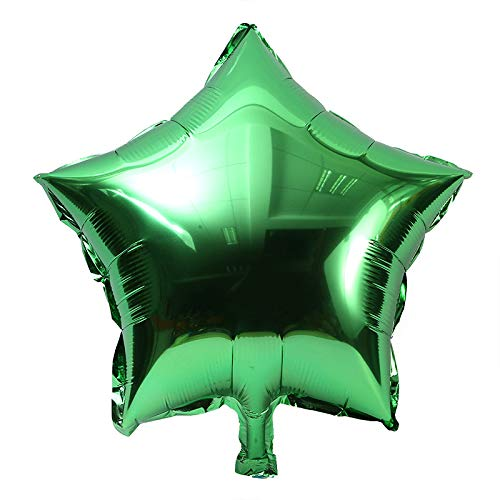 YAGE 10 Pack 10 Inch Five-Point Star Foil Balloons Pentagram Balloons Star Shape Foil Balloons for Party Decoration