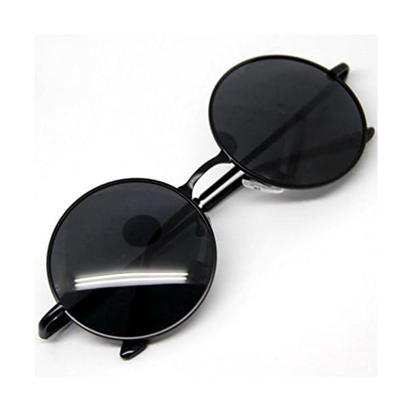 M-Egal Classic Goggles Steampunk Sunglasses Men Retro Round Glasses Eyes Wear 4