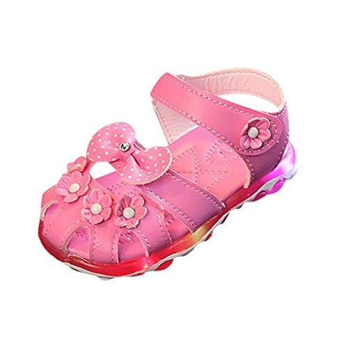7f7e230ff3f40 Morrivoe Kids Girls Summer Sandals Led Light Up Shoes Luminous Flashing  Flower Bowknot Casual Colorful Light Shoes Sandals