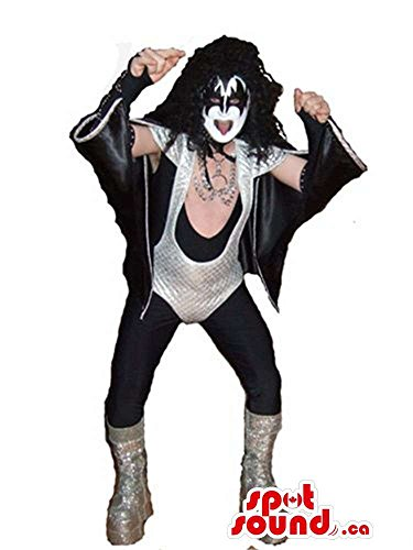 Cool White And Black Bat Or Kiss Band Member Adult Size (Bat Costume Canada)