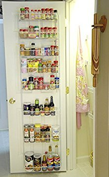 Gentil 18 Inch Wide Adjustable Door Rack Pantry Organizer