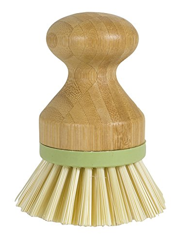- Evriholder Bamboo Naturals Greenery Collection Mini Scrub Brush Dish Scrubber Made of Sustainable Bamboo and Recycled Plastic