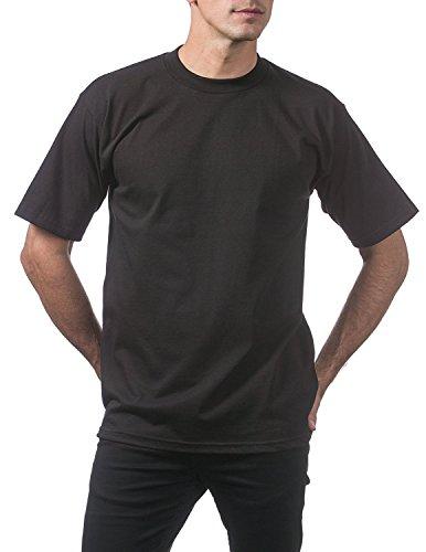 Pro Club Men's Heavyweight Short Sleeve T-Shirt, Black, 4X-Large (3 Pack) Photo #4