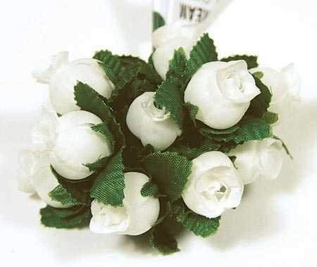 - Inspired By Nature Bulk Package of 288 Miniature Soft Ivory Poly Roses with Green Leaf Accents for Favors, Crafting and Embellishing