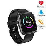 beitony Fitness Tracker, Smart Bracele Smart Watch Waterproof Pedometer Activity Tracker with Heart Rate Monitor, Blood Pressure Blood Oxygen Monitor Bluetooth 4.0 for iOS Android