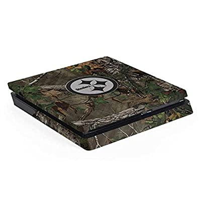 Pittsburgh Steelers PS4 Slim (Console Only) Skin - Pittsburgh Steelers Realtree Xtra Green Camo   NFL X Skinit Skin