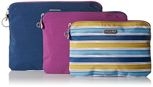 Baggallini 3 Pouch Travel Set, Tropical Stripe