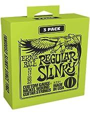 Ernie Ball 3221 Regular Slinky Nickel Wound Strings, 3 Pack.010 - .046