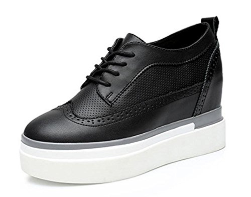 Dames Simple Fond Us8 Chaussures Sport D'ascenseur En Épais Eu39 De Dentelle Cn39 Uk6 Mme À Muffin Spring RHqYx0