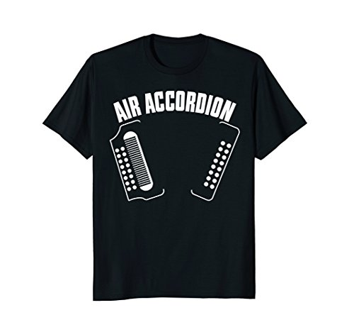 Mens Air Accordion T Shirt Tee Funny Musical Shirt Gifts Large Black