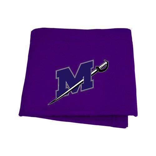 CollegeFanGear Millsaps Purple Sweatshirt Blanket 'Official Logo' by CollegeFanGear