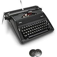 Royal Epoch Portable Manual Typewriter with Spool Typewriter Ribbon (2-Pack)