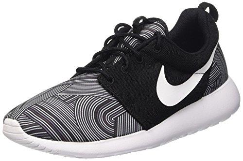 Nike Roshe One Print, Chaussures de Course Homme Varios Colores (Noir / Blanc / Grey (Black / Blanc-shark-wolf Grey))