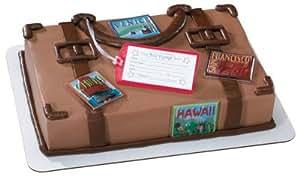 Amazon.com: Luggage Going Away Cake Topper Set- Bon Voyage ...