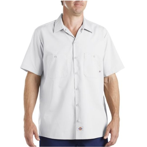 Dickies occupational workwear ls535wcs 2xlt polyester for White cotton work shirts