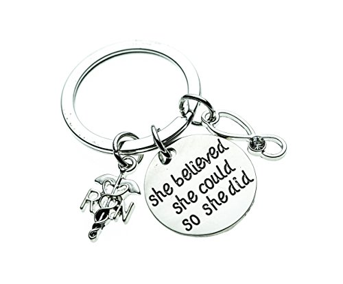 (Infinity Collection Nurse Keychain, Nurse Gift, Nursing Keychain Makes Perfect Nurses)