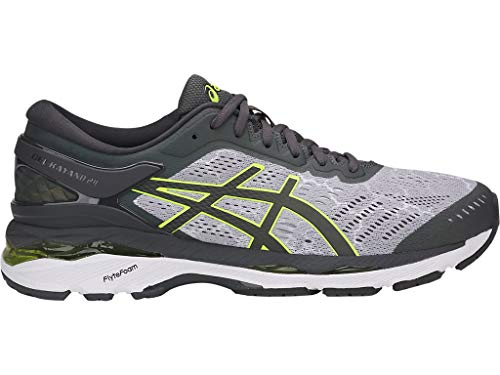 ASICS Men's Gel-Kayano 24 Lite-Show Running Shoes, 11M, MID Grey/Dark Grey/Safety Yell