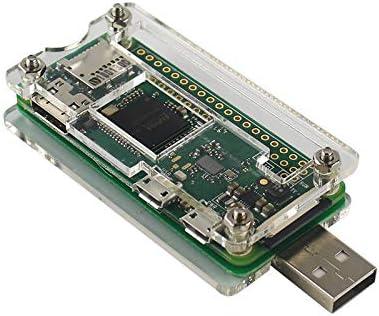 Cikuso Bad USB Addon Board - Estuche Transparente De Conector USB-A para Raspberry Pi Zero con Raspberry Pi Zero 1.3: Amazon.es: Electrónica