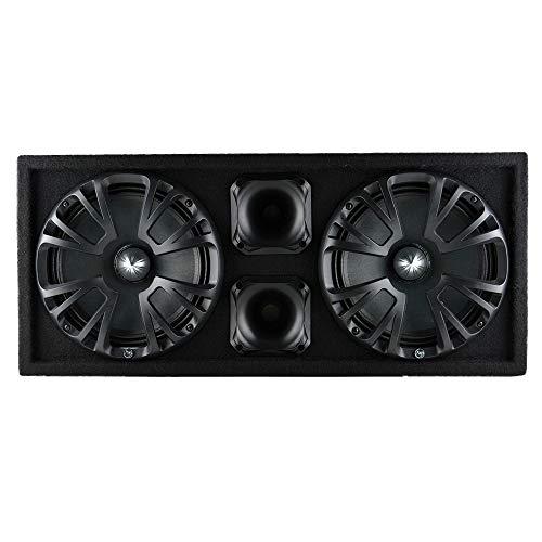 Audiopipe AP-CHULD-102 Sealed Dual 10 Inch Car Audio Subwoofer Box Enclosure