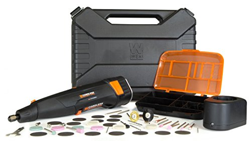 WEN 2309 Variable Speed Cordless Rotary Tool Kit with 50-Piece Accessory Set