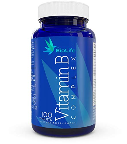 Vitamin B Complex: All B Vitamins B1 – Thiamine, B2,B3,B5,B6,B7 – Biotin,B9 – Folic Acid, B12, plus Choline and PABA – Super B complex vitamins for Immune System Support, Energy supplement, Stress aid