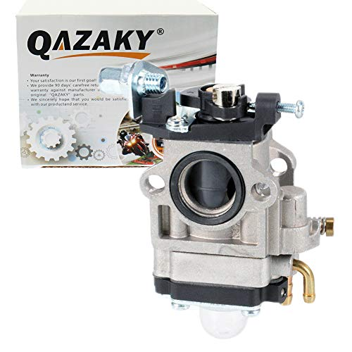 QAZAKY Carburetor Replacement for 33cc 43cc 47cc 49cc 50cc 2-Stroke Engines 15mm Intake Hole Dirt Pocket Rocket Bike ATV Scooter Mini Chopper Quad Hedge Trimmer Brush Cutter Blower Edger -