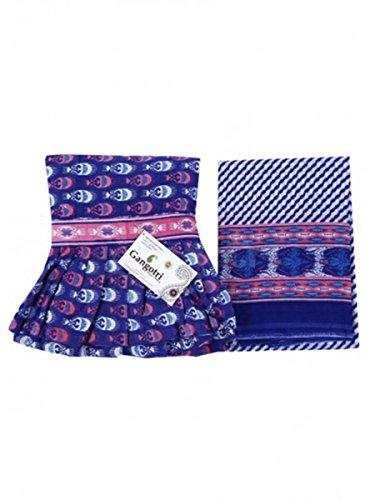 Skirt And Dupatta Set Blue