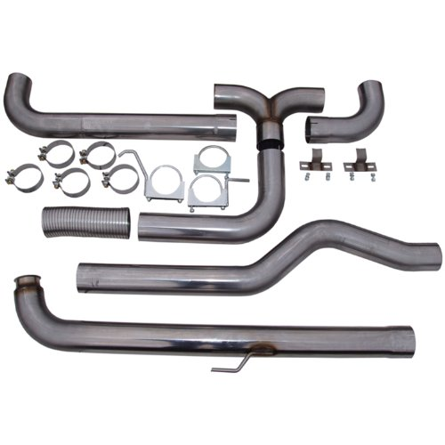 MBRP S8000409 SMOKERS T409 Stainless Steel Down Pipe Back Dual Exhaust System ()