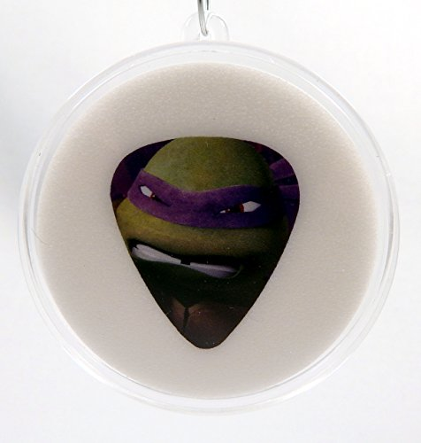 Orn Crystal (Teenage Mutant Ninja Turtles Donatello Face Guitar Pick With Made In USA Christmas Ornament Capsule)