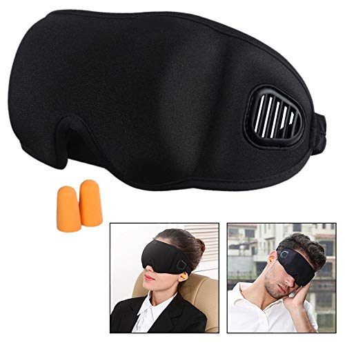 OFKP Sleep Mask for Sleeping, Blindfold 3D Contoured Comfortable Eye Patch 100% Blackout -Deeper Softer Lighter and Smoother Best for for Women& Men