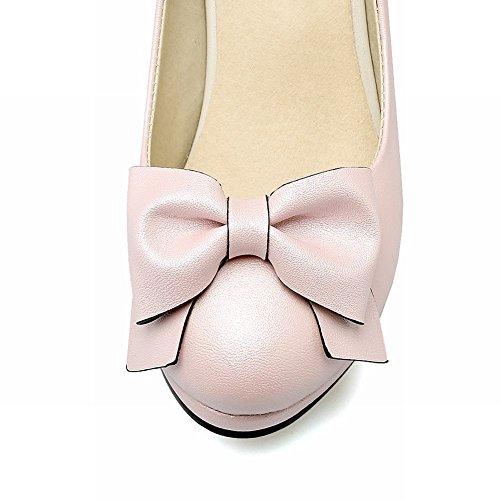 Mee Shoes Damen high heels Schleife runde Pumps Pink