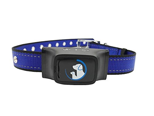 Qlte Products NO shock humane Bark Control Collar, Vibration With 7 Sensitivity Levels, Comfortable Premium Nylon No Rust Buckle, Fits Dogs 20-150lb, Extra Battery Included
