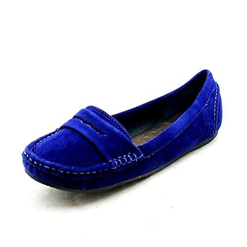 estilo mocasín plano de las señoras zapatos / bombas Azul