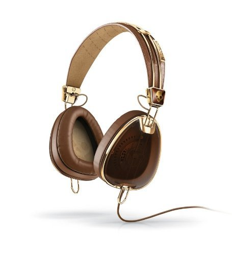 aviator headphones w mic3 brown