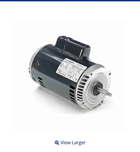 Marathon C339 56J Frame Open Drip Proof 5KC49TN2170X Jet Pump Motor, 2 hp, 3600 rpm, 115/208-230 VAC, 1 Phase, 1 Speed, Ball Bearing, C-Face, Capacitor Start (56j Replacement Motor)