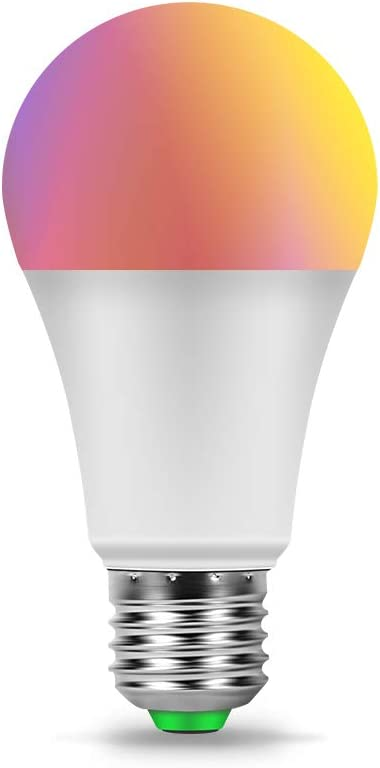 CANMEIJIA Smart Light Bulb Compatible with Alexa,Color Changing Light Bulb with Remote E26 Bulbs 2.4G Wi-Fi Compatible with Alexa/Google Assistant, Music-Controllable Color Changing LED Bulbs(1 Pack)