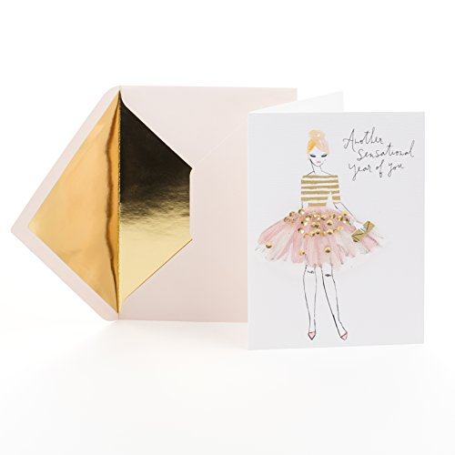 Hallmark Signature Birthday Greeting Card for Her  (Woman with Skirt)