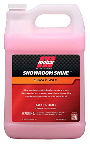 Malco Showroom Shine Spray Car Wax - Best Car Wax Spray for Professional Finish/Easy to Use Instant Detailer Spray/Cleans and Waxes Painted Surfaces
