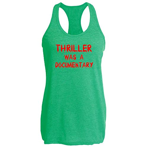 Pop Threads Thriller was a Documentary Funny Horror Halloween Heather Kelly 2XL Womens Tank Top