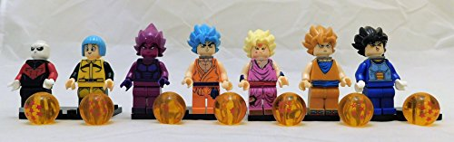 Dragon Ball Z Set of 7 Mini Figures Set #1 Works with All Building Block Systems