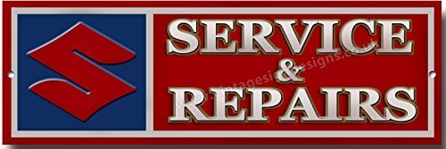 Suzuki Service and Repairs quality metal sign