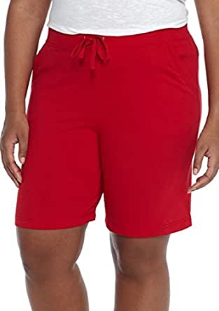 Kim Rogers Women's Solid Bermuda Stretch Short at Amazon