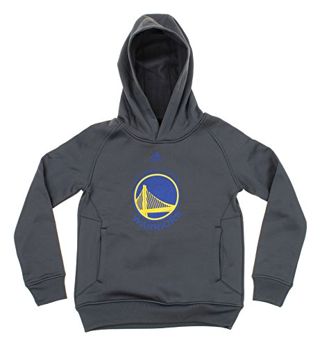 NBA Big Boys Youth Team Logo Pullover Sweatshirt Hoodie, Various Teams (Golden State Warriors (Dark Grey), Medium (10-12))