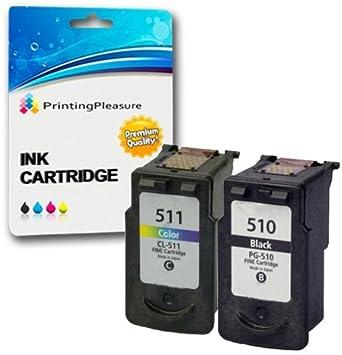 2 Compatibles PG-510 CL-511 Cartuchos de Tinta para Pixma iP2700 iP2702 MP230 MP240 MP250 MP252 MP260 MP270 MP280 MP490 MP492 MP495 MX320 MX340 MX350 ...