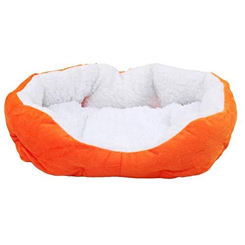 YYi-kuG Pet Dog Puppy Cat Soft Fleece Bed Winter Warm Removable House Cozy Nest Mat Pad Pets Dog Cats Puppy Kitten Nest Mat (Color : Orange, Size : 65x55cm)